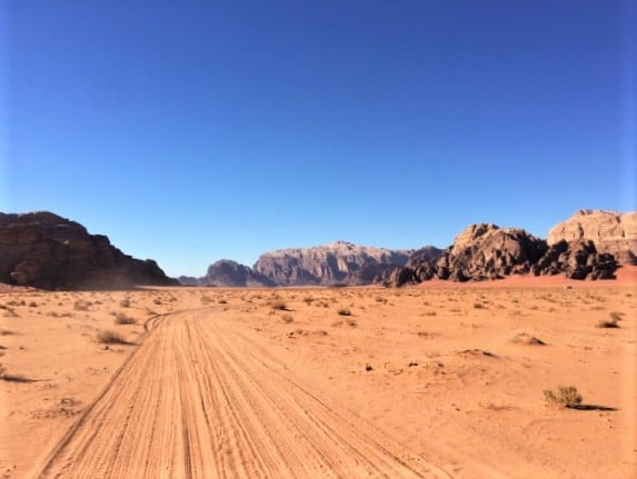 The path for many Wadi Rum Tours via 4x4