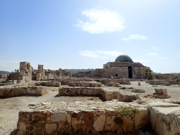 Ruins surround an Ummayad Mosque in Amman, Jordan