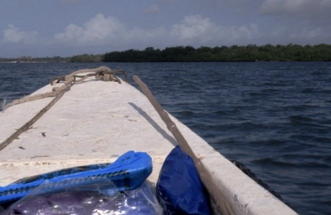 On the speedboat...