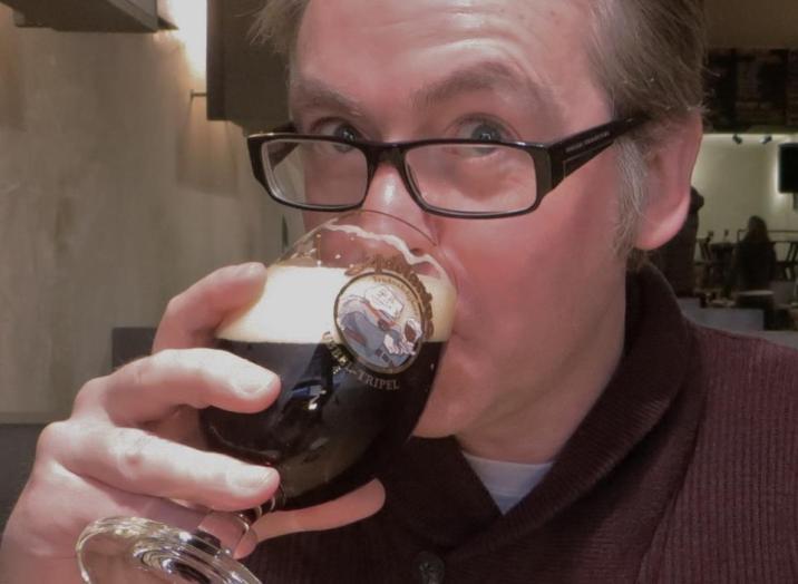 Drinking Beer at Moeder Lambic!