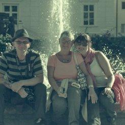 With Stephen Lee and Lynette Lee at Mirabellgarten Salzburg.