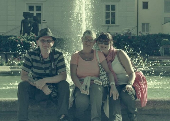With Stephen Lee and Lynette Lee at Mirabellgarten Salzburg.