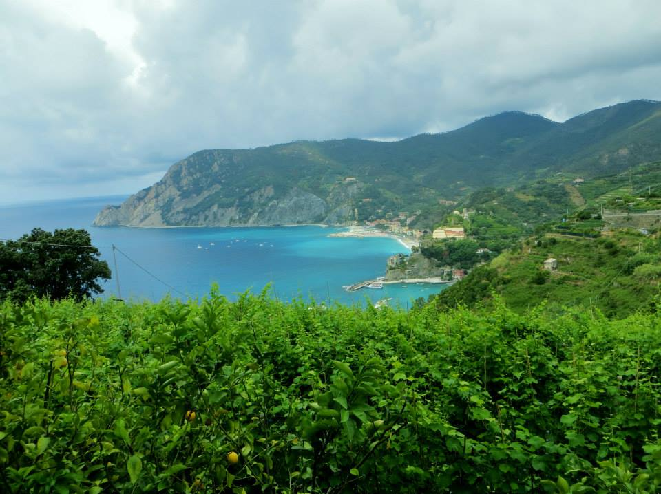 Looking back over Monterosso