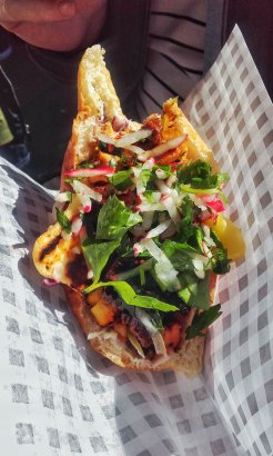 Chicken kebab from the Kebab Cartel at the Spring Market, the Bond Company, Digbeth