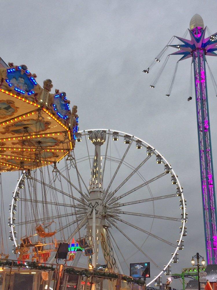 Fairground rides at London's Winter Wonderland in Hyde Park