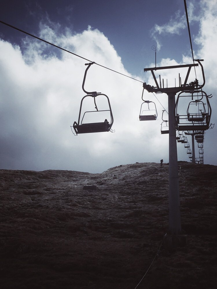 Chairlift up mountain at Scottish Highlands ski resort