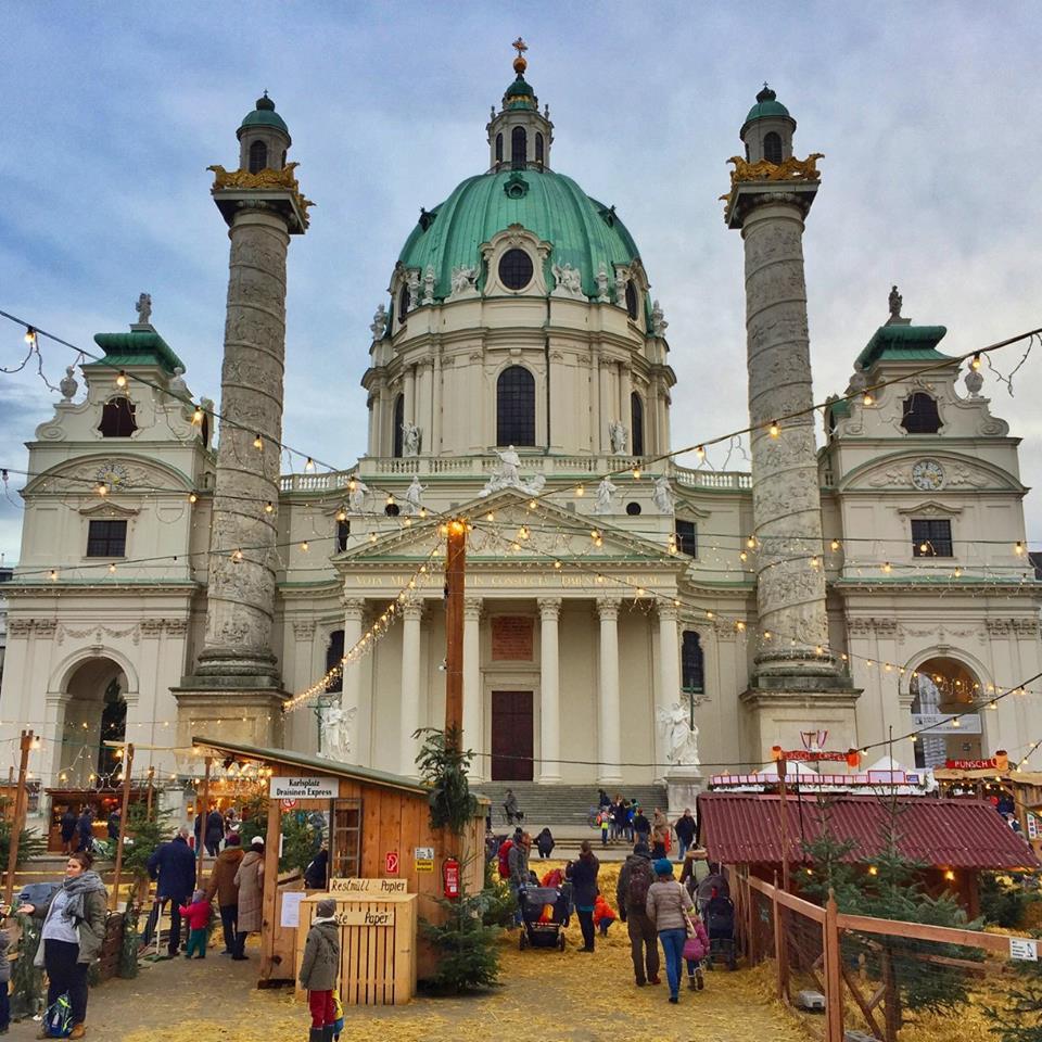 Karlskirche, Christmas Market, Vienna