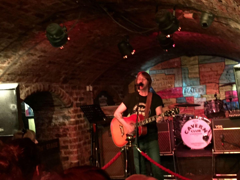 Solo guitarist at Cavern Club, Liverpool
