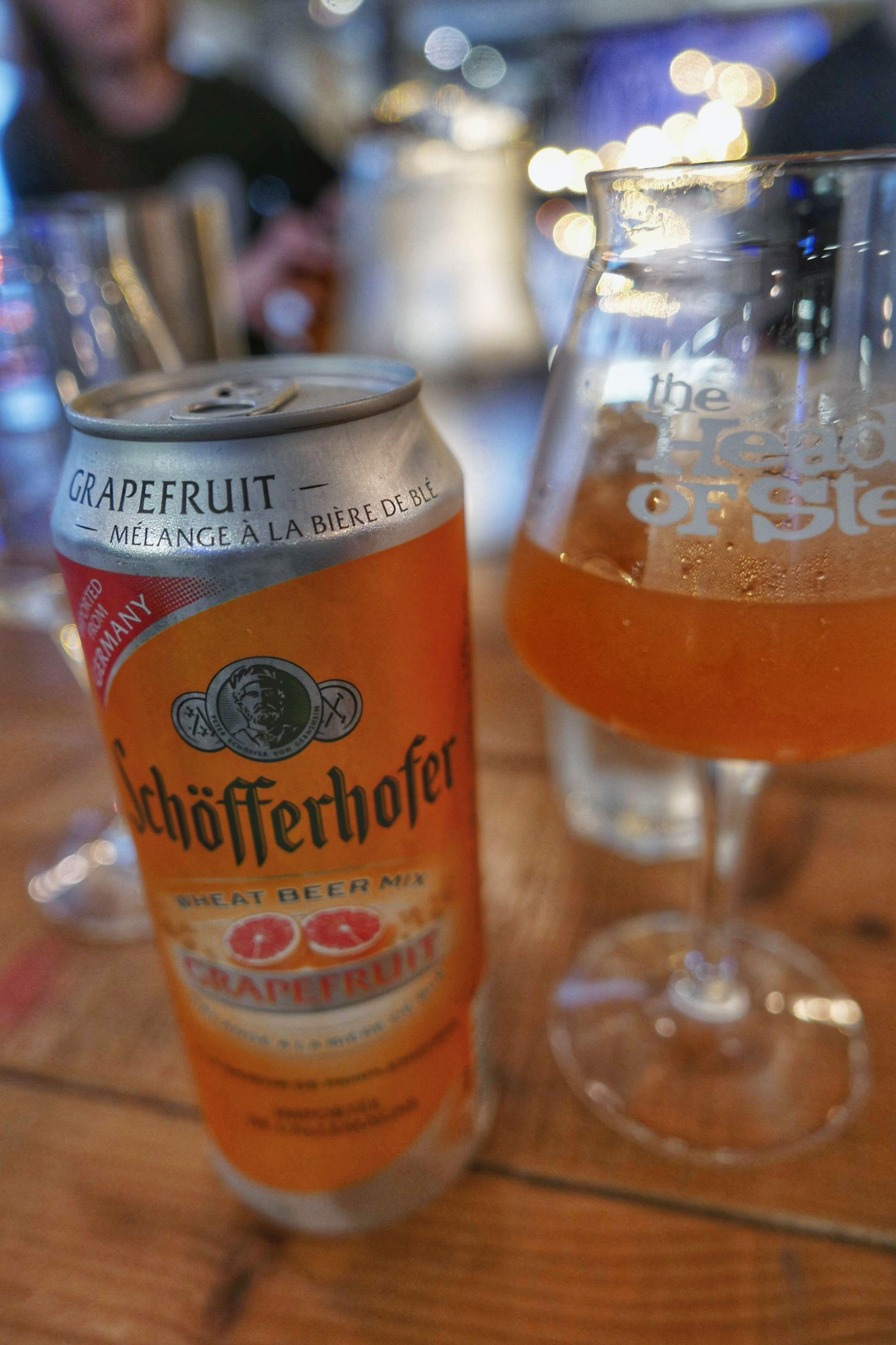Schofferhofer, a German grapefruit wheat beer