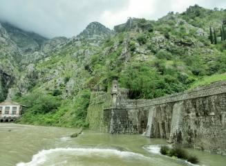 The city walls of Kotor