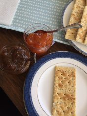 Snack served with homemade jams
