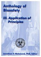 Anthology of Biosafety III: Application of Principles