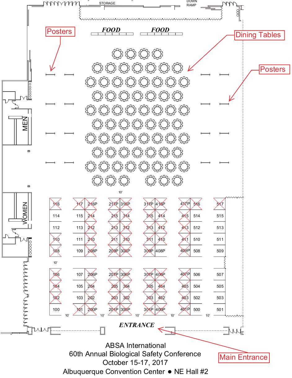 ABSA 2017 Exhibit Hall Floor Plan