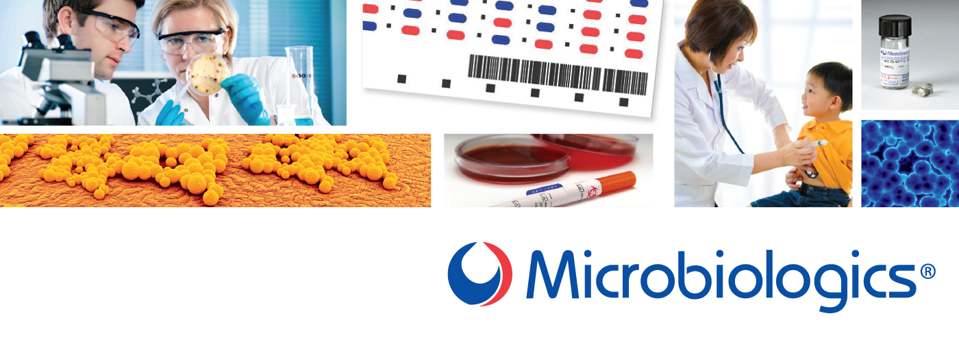 Microbiologics Quality Control Organism Range for use in clinical laboratories.