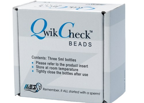 Qwik Check Beads for andrology QC manufactured by MES