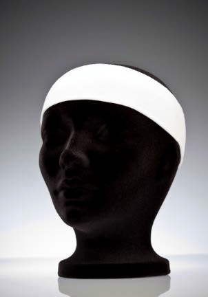 Sweatless headbands for use in cleanrooms