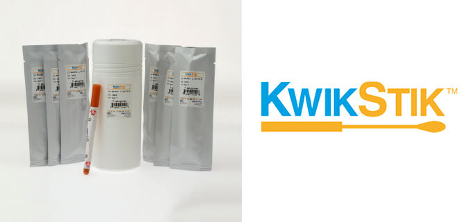 KWIK-STIK lyophilised microorganisms in a swab format.