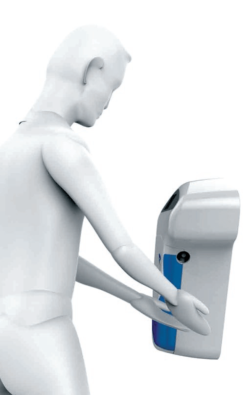 MyandClean automatic hand sanitiser for cleanrooms