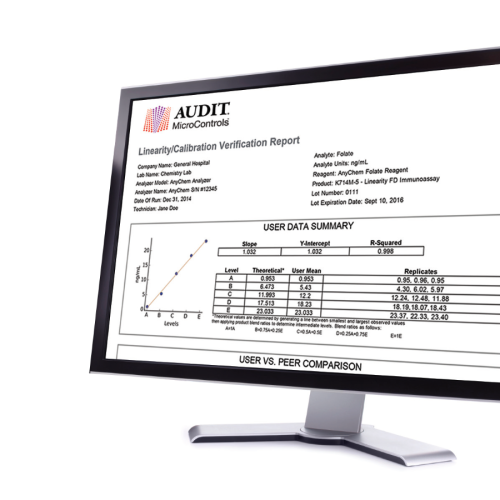 Free to use Linearity Data Analysis Software for clinical analysers