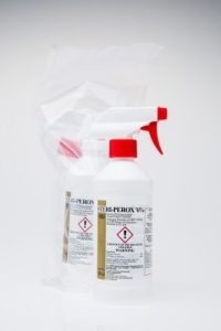 Cleanroom formula hydrogen peroxide for use in cleanroom disinfection