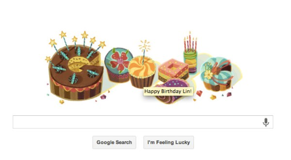 Google wished me a happy birthday by name. I must be a big shot on the Internet.