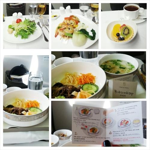 food on Asiana to South Korea