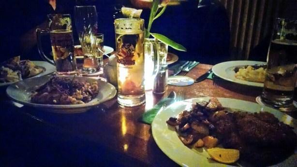 When in Berlin. Muss man Bier und Schweineschnitzel haben.