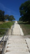 The stairs we conquered. That speck at the top is me.