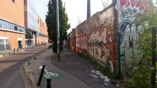 Montreuil is filled with colorful graffiti.