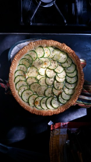 I baked a zucchini (courgette en francais) tart yesterday!