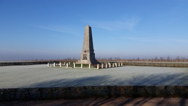 The memorial to the Australian 1st Division, which fought along the surrounding Pozieres Ridge.