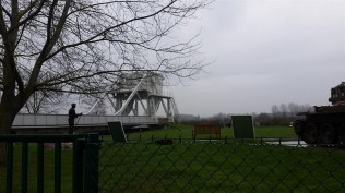 The original Pegasus Bridge, which now sits on the grounds of a museum adjacent to its replacement.