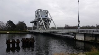 Here's the new bridge. British parachutists had to take this bridge in the early morning before the invasion.