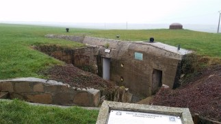 A German blockhaus that still stands outside Colleville-Montgomery