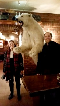 We found a polar bear in Ølhallen as, the northernmost brewery in the world!