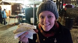 So we ate sausages in lefse!!