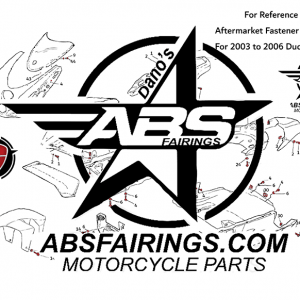 Aftermarket Professional Grade Fairing Fastener Kits For