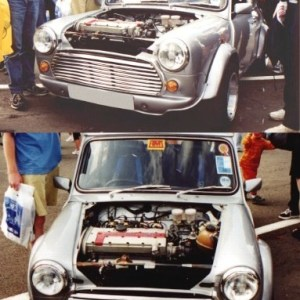 Mini Front End – Round Front +90mm – 2 piece front end – ABS Motorsport