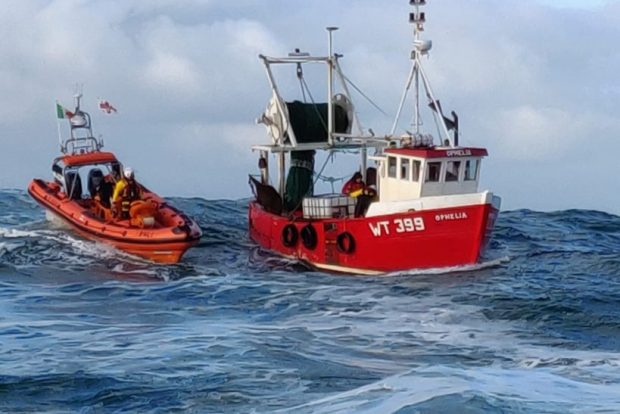 Clifden lifeboat rescues sinking trawler and two crew