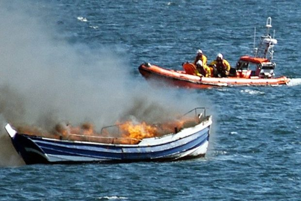 Both Hartlepool lifeboats launch to coble fire