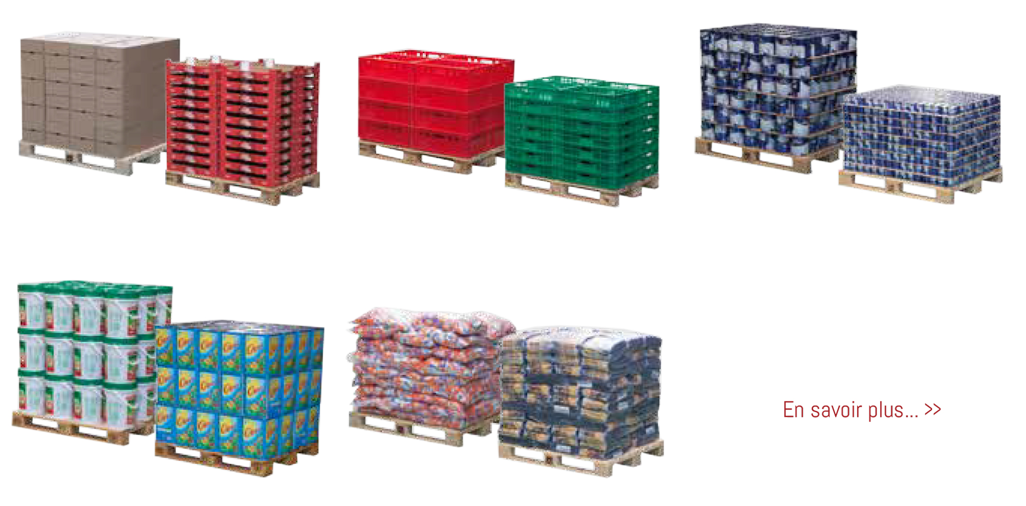 palettes emballages, palettes, encaissage, prêt à vendre, formeuse de caisse, Absoltech
