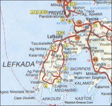 Ionian MapsAbsolutGreeceMaps of CorfuKerkyra