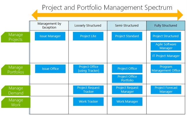 project management portfolio