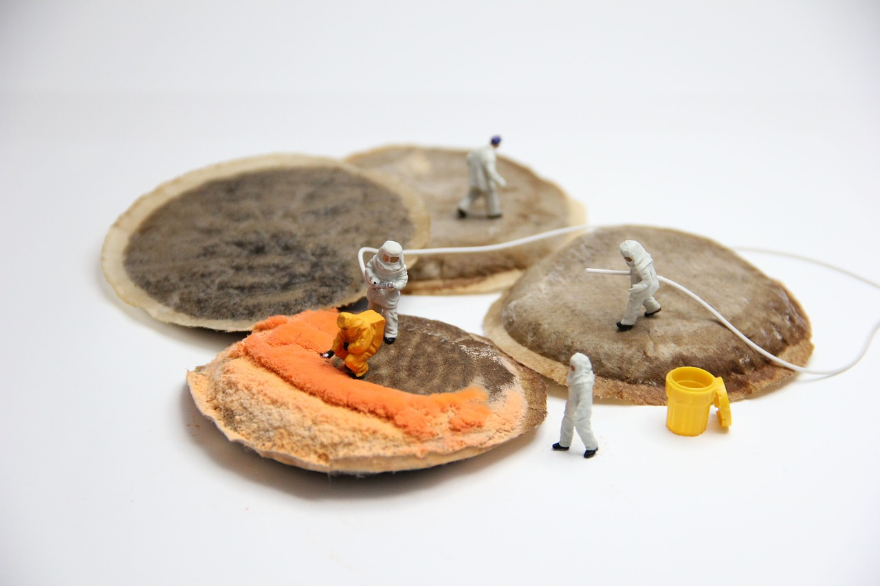 coffee, mold, miniature figures