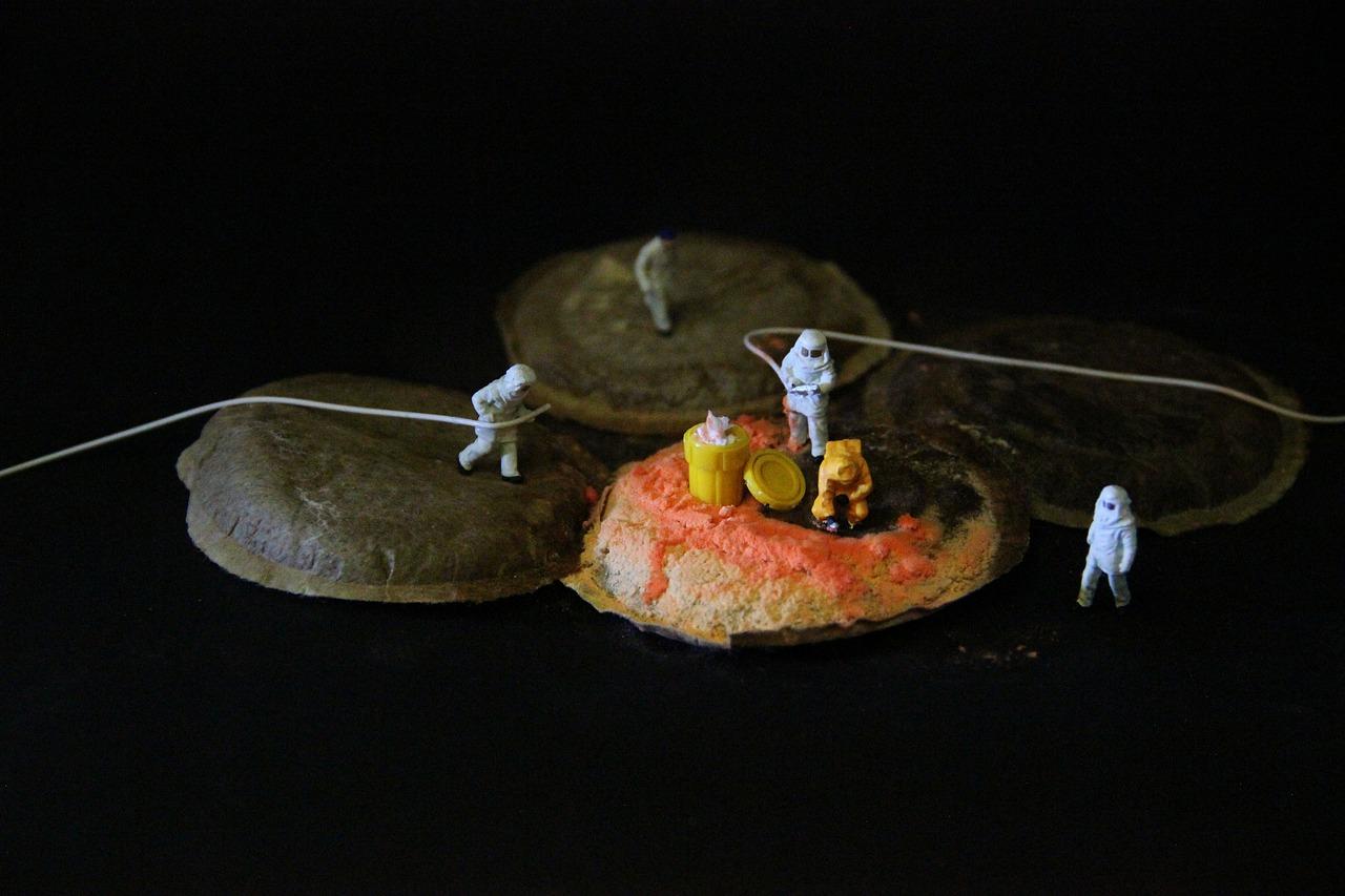 coffee, mold, miniature figures