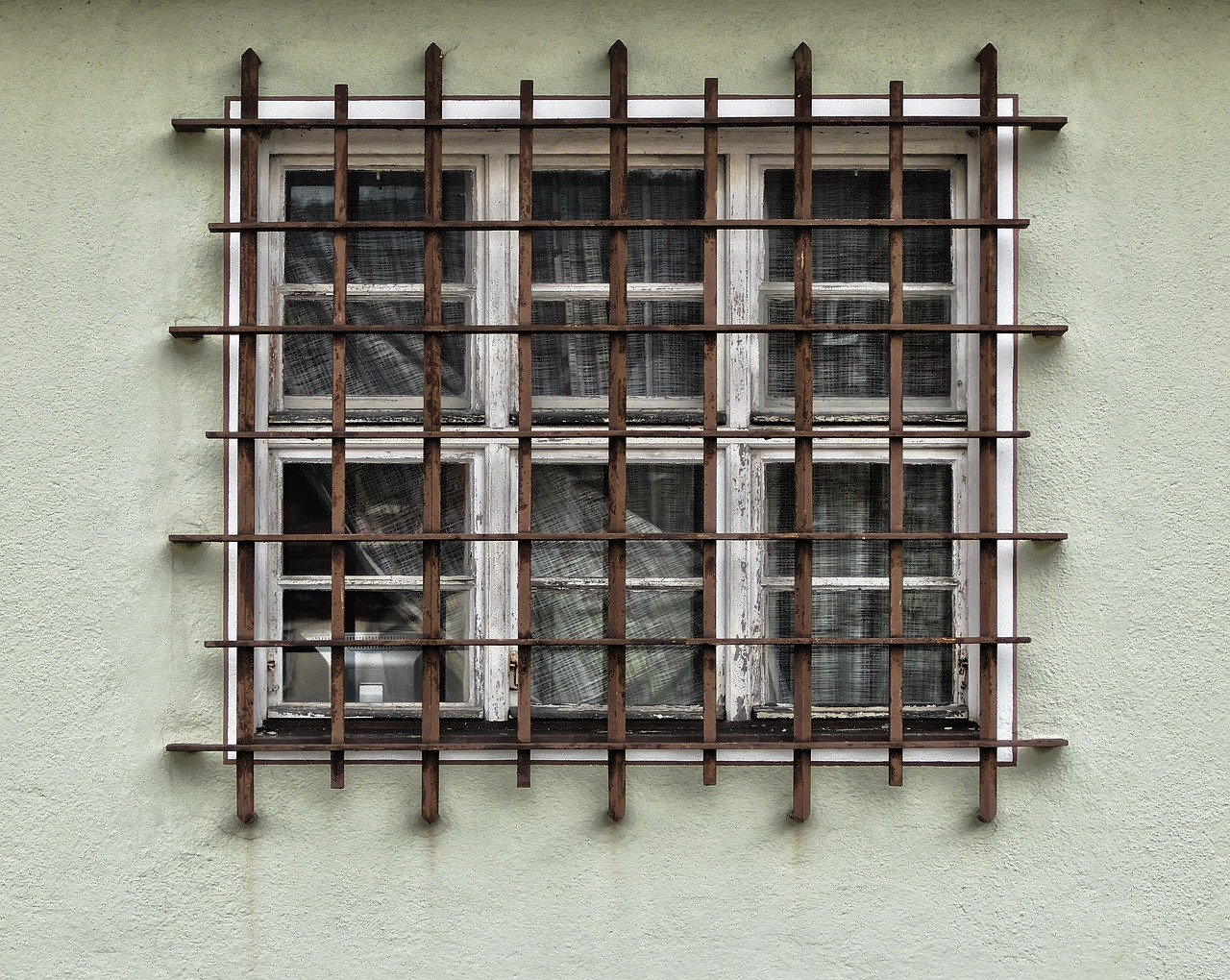 facade, grid, window