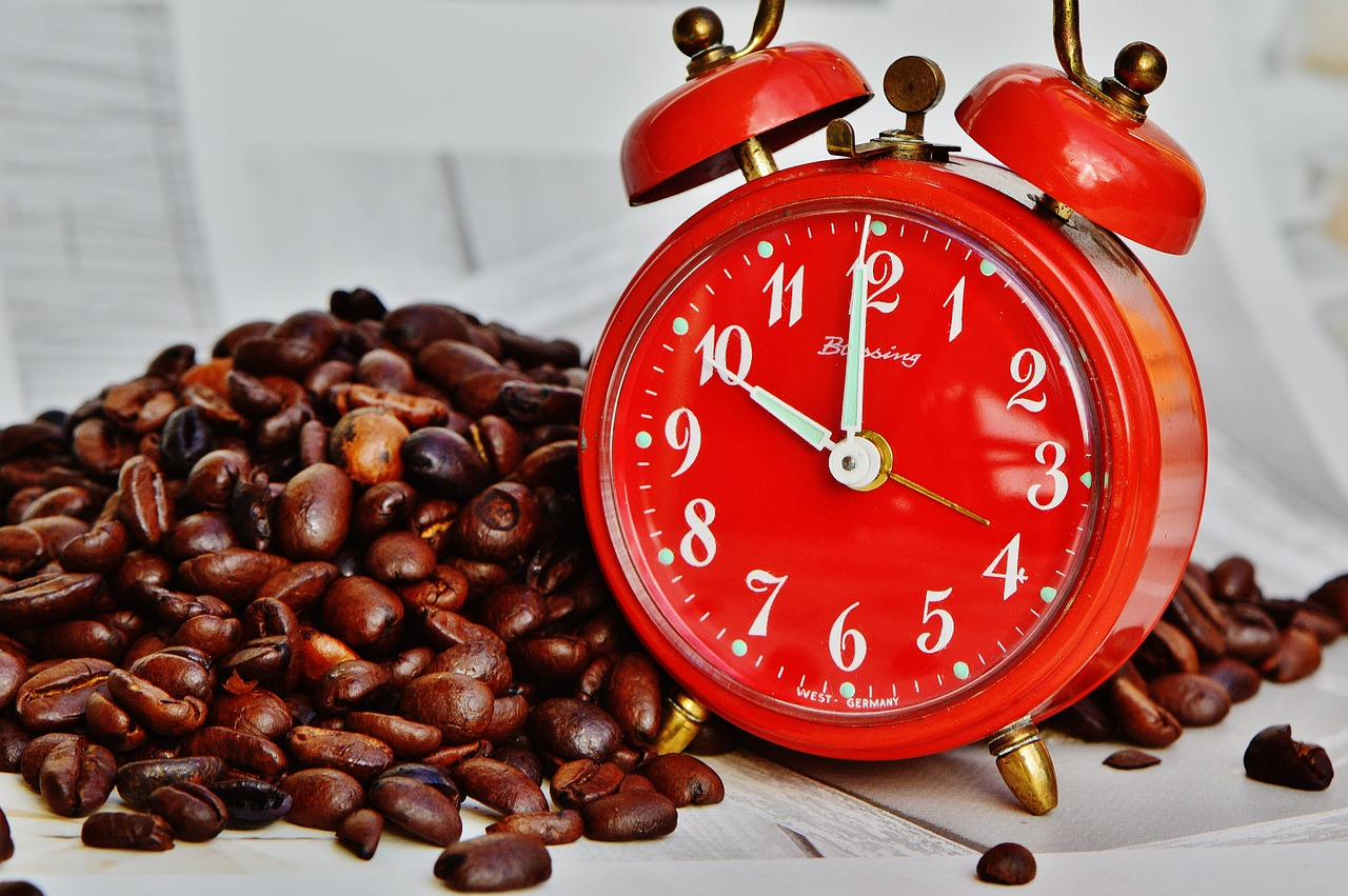 coffee break, break, alarm clock