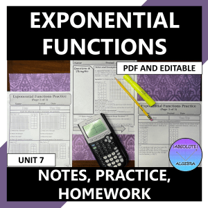 Exponential Functions Notes Practice Homework
