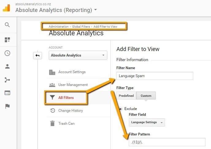 Google- analytics- trump-Language_Spam_Filter