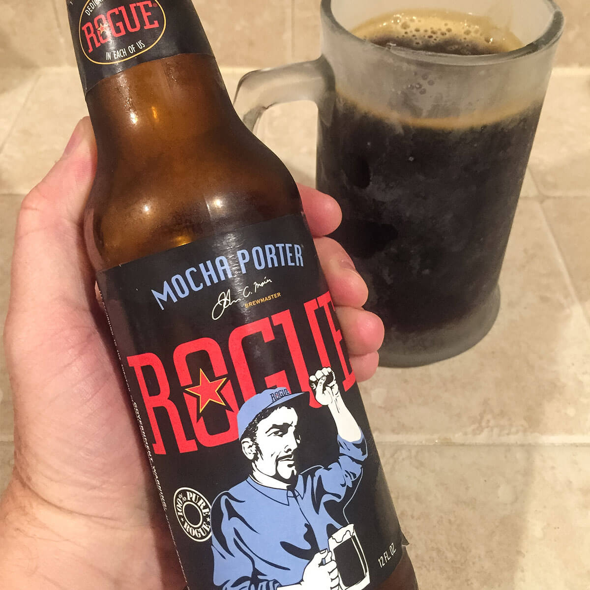 Mocha Porter, an American Porter brewed by Rogue Ales